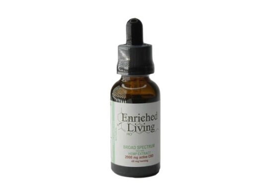 2000mg Natural Broad Spectrum Hemp CBD Tincture