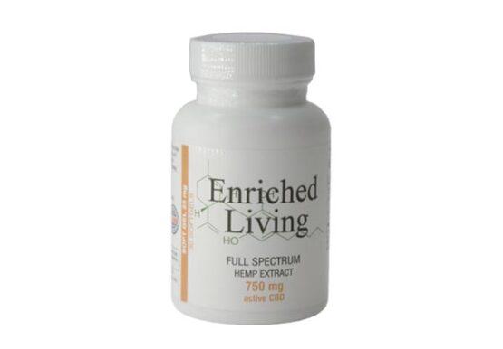 Enriched Living Soft gels Full Spectrum Hemp CBD Extract